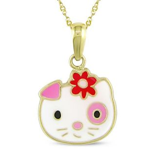 Miadora 14k Yellow Gold Kitty Baby Necklace