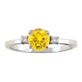 10k Gold November Birthstone Citrine and Diamond Ring