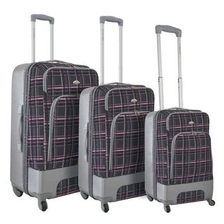 Dejuno Mobility 3 piece Expandable Spinner Luggage Set
