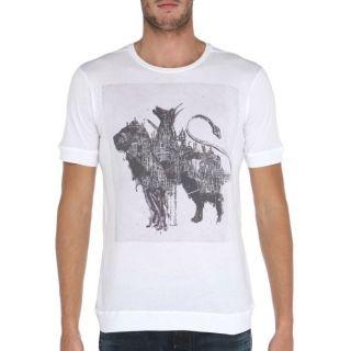 DIESEL BLACK GOLD T Shirt Homme Blanc et gris   Achat / Vente T SHIRT