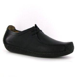 Clarks Natalie Black Leather Mens Shoes Shoes