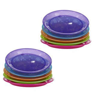 Munchkin Fish Design Multi colored Plates (Pack of 10)