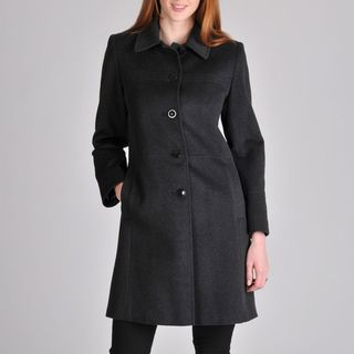 Larry Levine Womens Cashmere Wool Coat