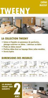 TWEENY Table carrée extensible en chêne 125/180cm   Achat / Vente