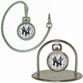 MLB New York Yankees NY Logo Pocket Watch & Stand