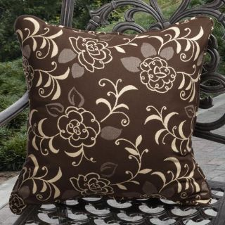 Clara Outdoor Brown Pillows Made With Sunbrella (Set of 2)