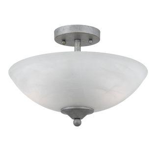 light Silver Finish Semi flush Fixture