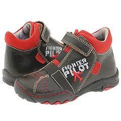 Braqeez Kids Scott (Toddler) Black/Red Boots