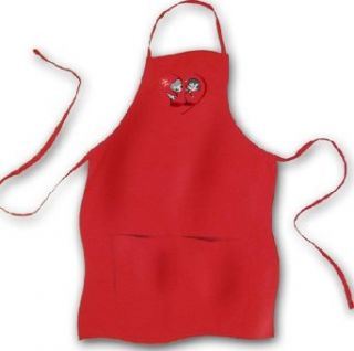 I Love Lucy STICK FIGURES Red Apron with Pockets Clothing