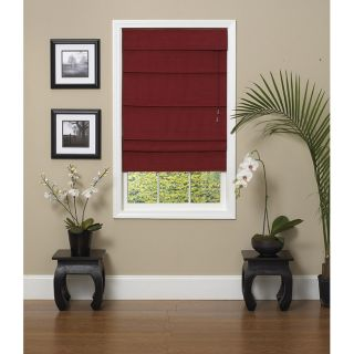 Rosewood Fabric Roman Shade (31 in. x 72 in.)