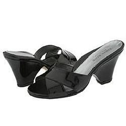 Taryn Rose Diol Black Patent Sandals   Size 35 (US