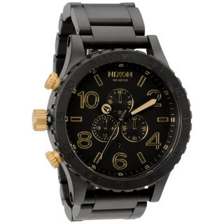 Nixon Mens 51 30 Chrono Matte Black and Gold Watch