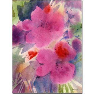 Sheila Golden Pink Blossoms Canvas Art