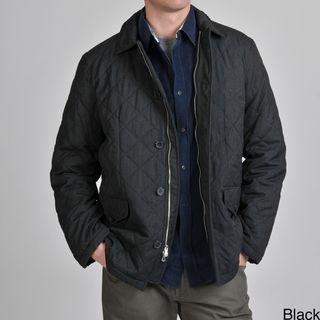 Tasso Elba Mens Quilted Car Coat