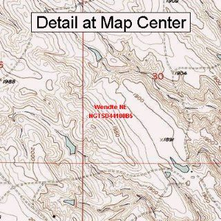 USGS Topographic Quadrangle Map   Wendte NE, South Dakota