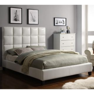 ETHAN HOME Sarajevo Soft White Tufted Upholstered King Bed