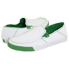 Sanuk Standard White/Green Loafers