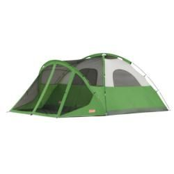Coleman Evanston Six person Camping Tent with Screened Front Porch
