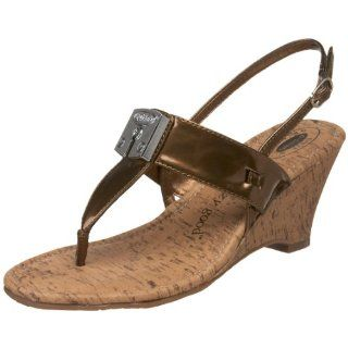 Dr. Scholls Womens Candle Thong Sandal,Bronze,5.5 M US: Shoes