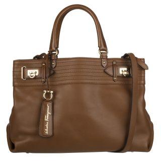 Salvatore Ferragamo Charlize Leather Shopper Bag