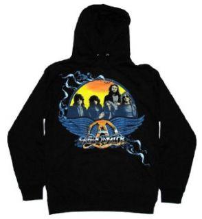 Aerosmith Band Sunset Logo Rock Band Adult Pullover Hoodie