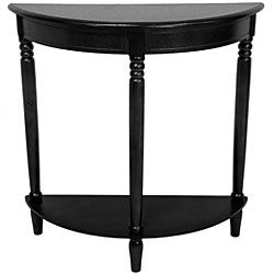 Wood 31 inch Half Round Console Table (China)