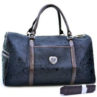 Jacquard Heart Design Luggage / Travel Bag With Croco