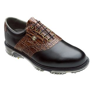FootJoy Mens DryJoys Tour Black/ Brown Golf Shoes