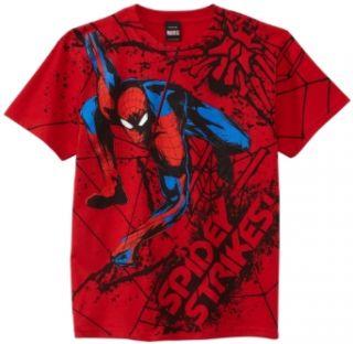 Marvel Boys 8 20 Spiderman Web Strike Shirt Clothing