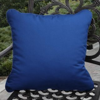 Clara Outdoor Canvas Blue Pillows Made With Sunbrella (Set of 2
