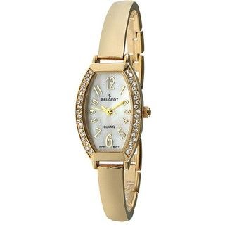 Peugeot Womens Goldtone Bangle Watch