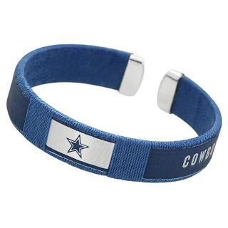 Silvertone Nylon Dallas Cowboys Cuff Bracelet