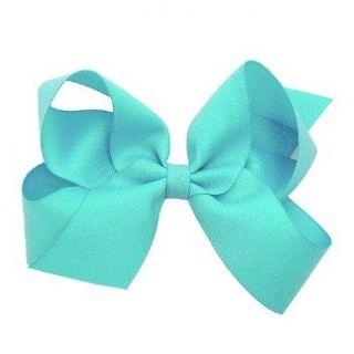 Wee Ones Little Girl Turquoise Glitter Grosgrain Ribbon