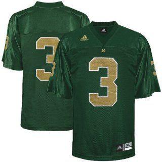 adidas Notre Dame Fighting Irish #3 Kelly Green Replica