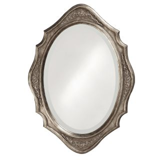 Tracy Silver Wood Oval Mirror