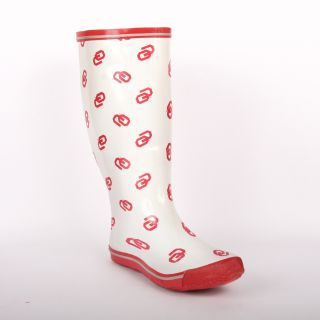 Oklahoma Sooners Womens Scattered Logo Rain Boots