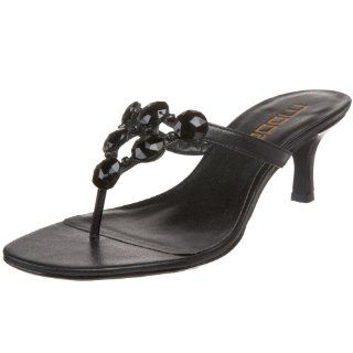 Talon T Strap Sandal,Black Antique Metallic Smooth,5.5 M US Shoes