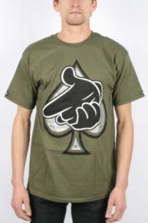 Crooks & Castles   Mens Air Gun Spades T Shirt In Surplus