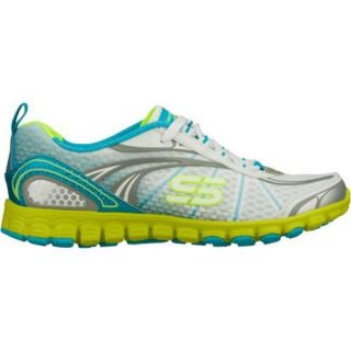 Womens Skechers EZ Flex Barbed Wire White/Blue