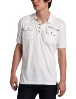 Modern Culture Young Mens Utility Polo Shirt, White