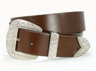 Western Rhinestone Buckle Plain Leather Belt Shoes