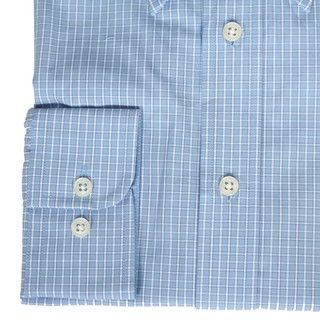 Haspel Mens Checked Dress Shirt