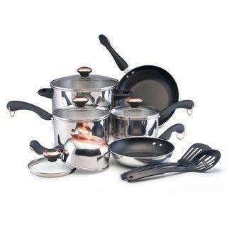 Paula Deen 12 piece Signature Stainless Steel Cookware Set