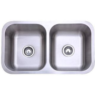 Stainless Steel 31 inch Undermount Double Bowl Kitchen Sink