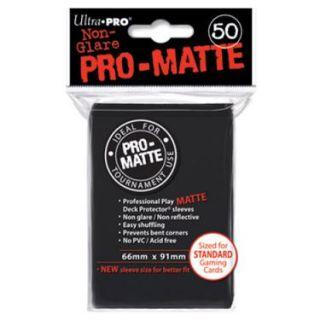 Ultra Pro 50 pochettes Deck Protectors Pro Matte Noir   Contient 50