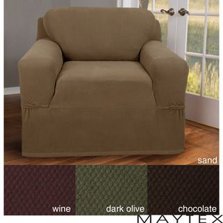 Maytex Stretch Pixel 1 piece Chair Slipcover