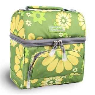 World Corey Khaki Flower Lunch Bag