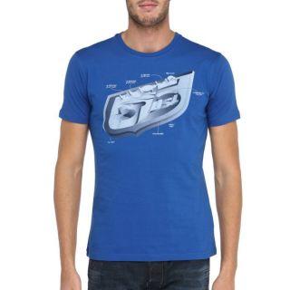 Modèle TalfPipe   Coloris  bleu et gris. T Shirt 55DSL Homme. Col
