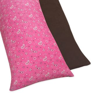 Sweet Jojo Designs Western Horse Cowgirl Reversible Body Pillow Cover