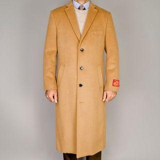 Mantoni Camel Wool/Cashmere Blend Topcoat